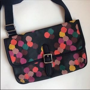 Fossil Painted Canvas Crossbody Bag